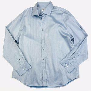 Robert Graham Herringbone Button Down Shirt 46 18